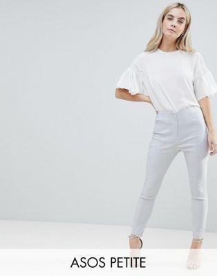 ASOS DESIGN Petite – Enge Hose mit hoher Taille