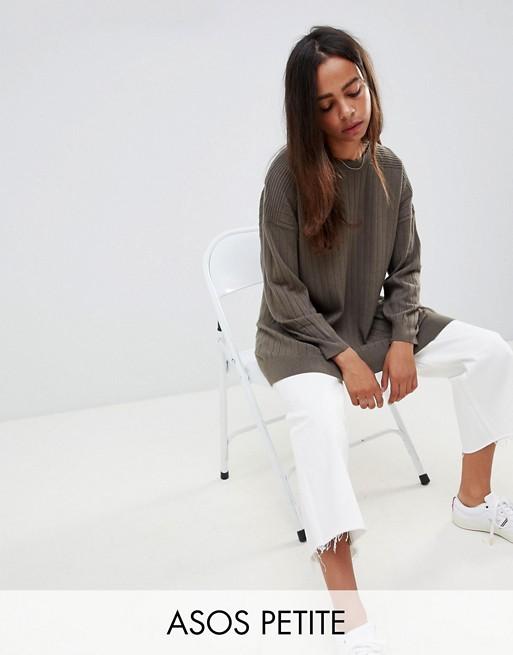 ASOS DESIGN – Petite – Finstickad tröja i oversize