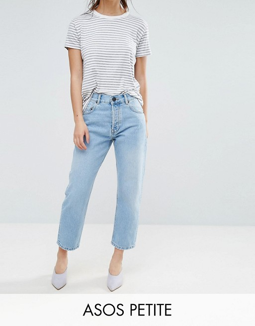 ASOS DESIGN Petite Florence authentic straight leg jeans in cambridge light mid wash