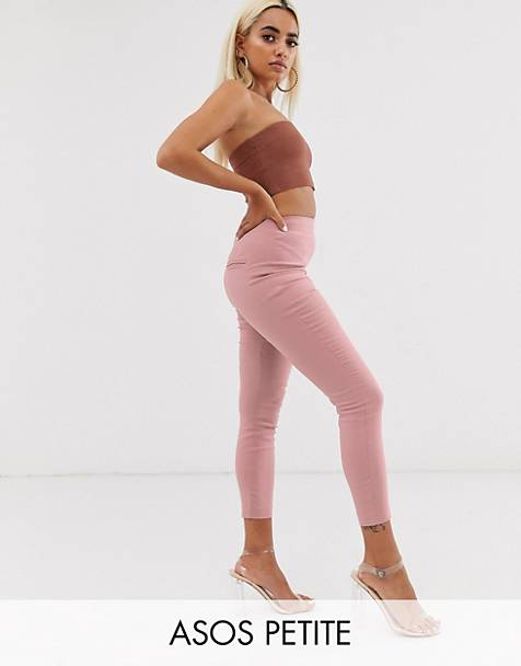 1789554754f259 ASOS DESIGN Petite high waist pants in skinny fit in beige