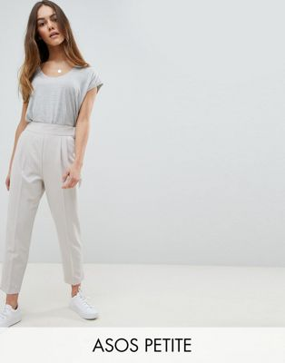 ASOS DESIGN Petite high waist tapered pants