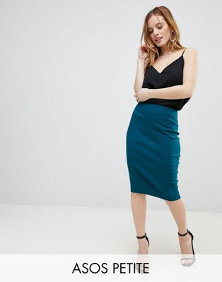 ASOS DESIGN Petite high waisted pencil skirt