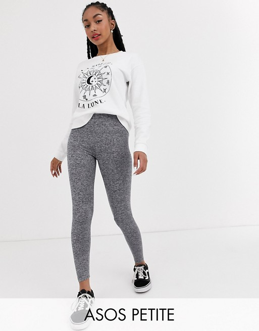 ASOS DESIGN Petite – Leggings in Kalkgrau