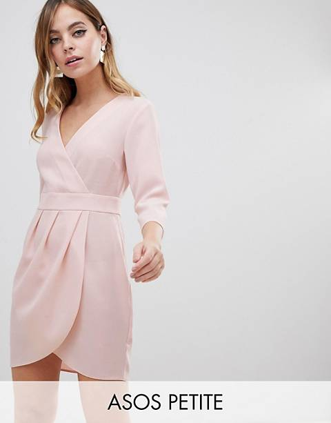 ASOS DESIGN Petite mini dress with wrap skirt