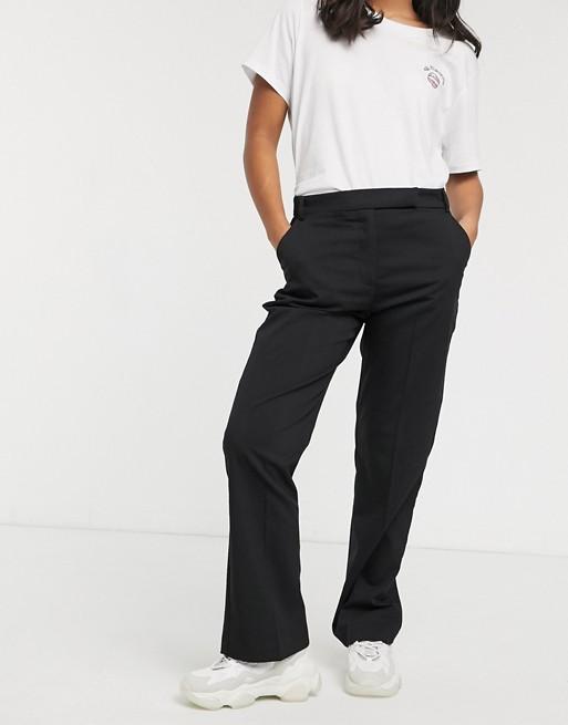 ASOS DESIGN Petite - Pantalon droit ajusté Pantalons et leggings femme