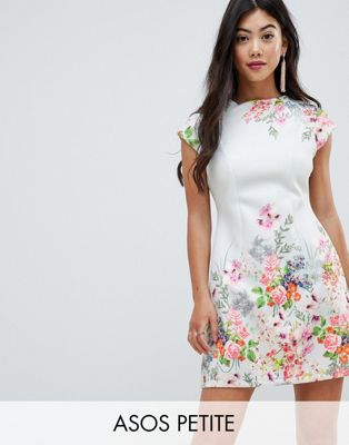 ASOS DESIGN Petite placement floral shift mini dress