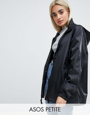 ASOS DESIGN Petite rain jacket with bum bag