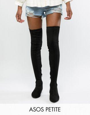 ASOS DESIGN Petite - Stivali elasticizzati bassi  il ginocchio