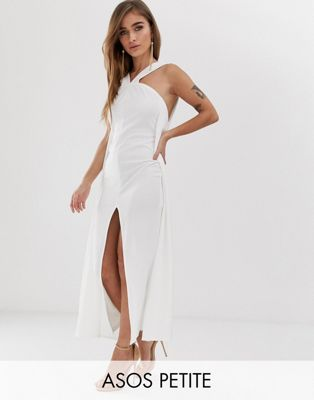 ASOS DESIGN Petite strappy cape maxi dress