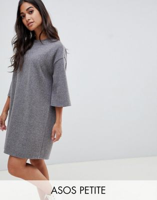 ASOS DESIGN Petite super soft oversized t-shirt dress