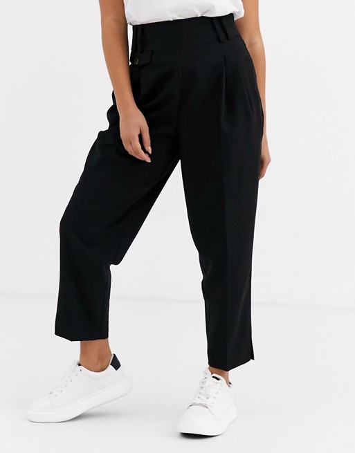 Asos Design Petite Tailored Smart High Waist Balloon Pants by Asos Design