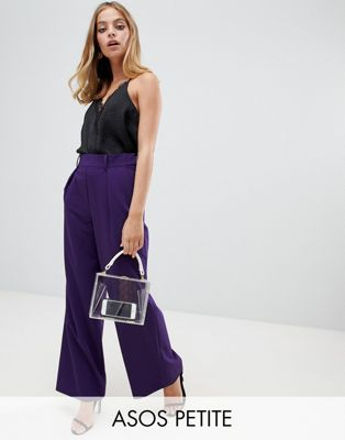 ASOS DESIGN Petite the wide leg wide leg pants with pleat detail