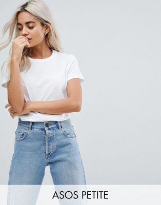 Image 1 of ASOS DESIGN Petite ultimate crew neck t-shirt in white