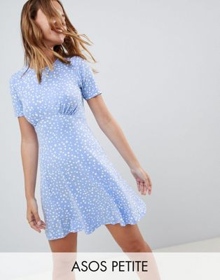 ASOS DESIGN Petite ultimate mini tea dress in scatter spot