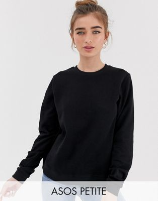 ASOS DESIGN Petite ultimate sweat in black