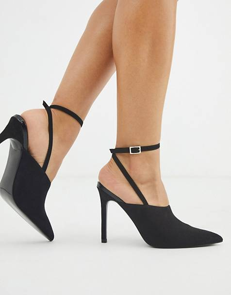 ASOS DESIGN – Photography – Spitze High-Heels in Schwarz