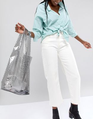 ASOS DESIGN plastic spot grab shopper