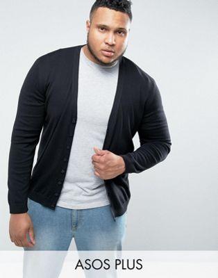 ASOS DESIGN Plus - Cardigan en coton - Noir