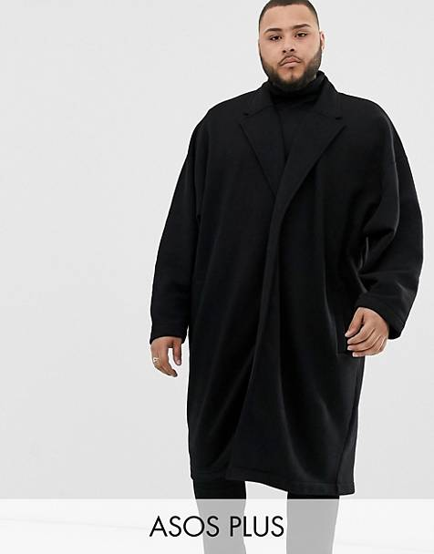 ASOS DESIGN Plus extreme oversized jersey duster jacket in black