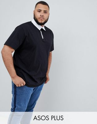 ASOS DESIGN Plus relaxed fit rugby polo