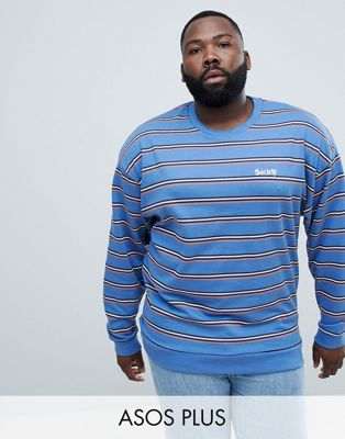 Bild 1 av ASOS DESIGN Plus – Retrorandig oversize-sweatshirt med broderi