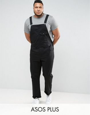 Image 1 sur ASOS DESIGN Plus - Salopette chino - Noir