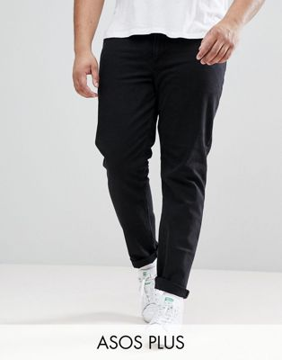 ASOS DESIGN Plus Slim Jeans In Black