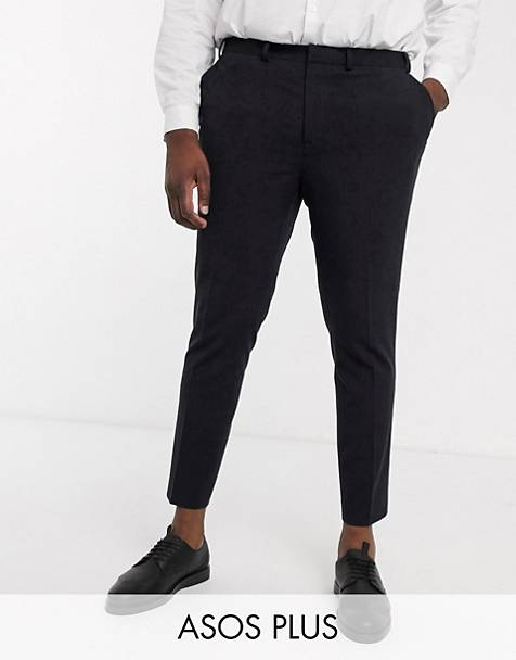 ASOS DESIGN Plus super skinny cropped smart pants in black