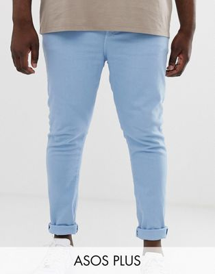 ASOS DESIGN Plus super skinny jeans in baby blue