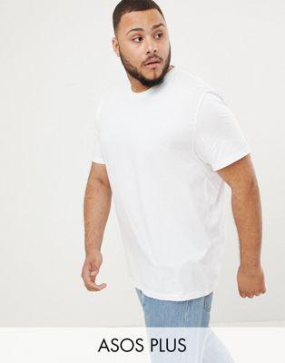 Immagine 1 di ASOS DESIGN Plus - T-shirt girocollo comoda bianca