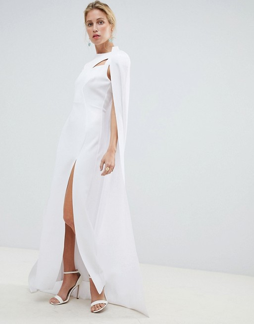 aebd8a9168d ASOS DESIGN premium cape maxi dress