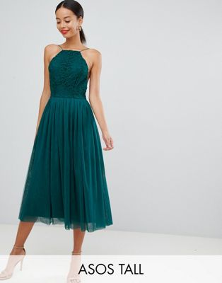 Image 1 of ASOS DESIGN Premium Tall tulle midi prom dress