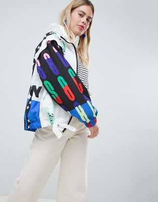 ASOS DESIGN printed motorcross bomber jacket