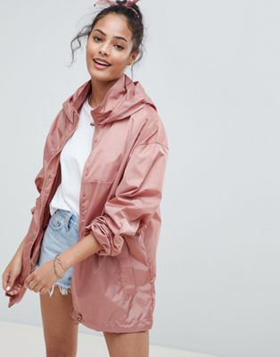 ASOS DESIGN rain jacket with bum bag