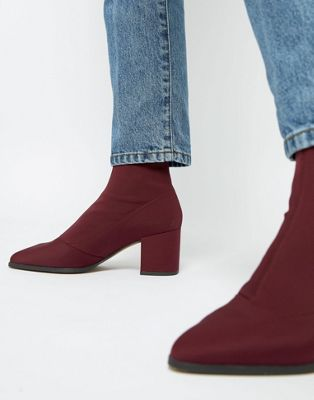 ASOS DESIGN Rally heeled sock boots