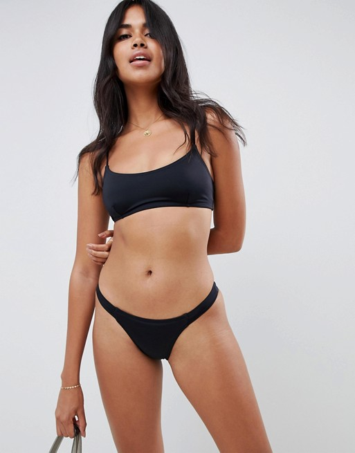 Image 1 of ASOS DESIGN recycled mix and match tab side tanga bikini bottom