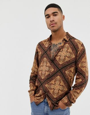 ASOS DESIGN - Regular-fit paisley overhemd