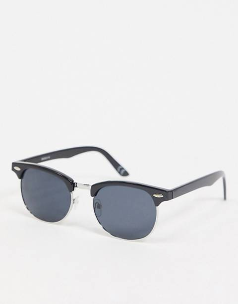 ASOS DESIGN retro sunglasses in black