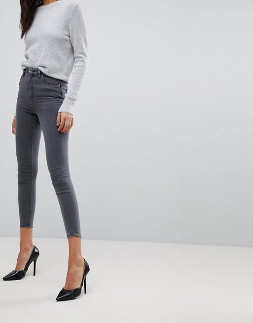 ASOS Jeans Enge Grau DESIGN mit stacey in hohem grau Ridley Bund wxwarqtHB