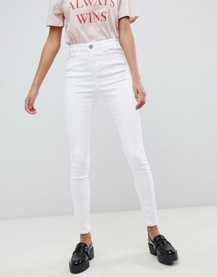 ASOS DESIGN Ridley high waist skinny jeans in optic white