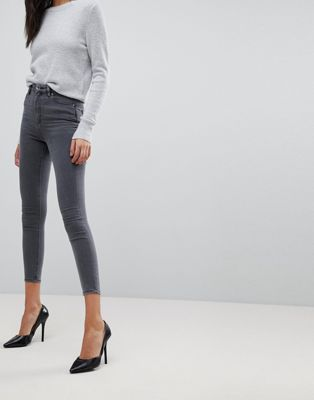 ASOS DESIGN Ridley high waist skinny jeans in stacey grey