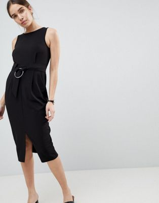 ASOS DESIGN Ring Detail Pencil Dress