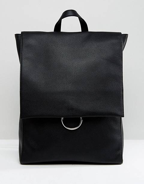 ASOS DESIGN ring flap backpack