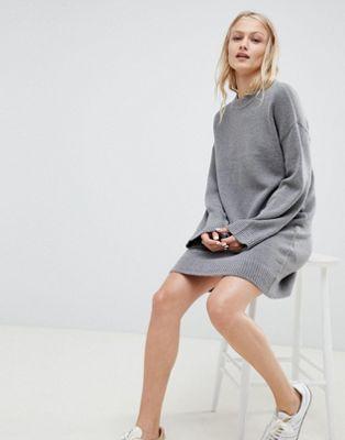 ASOS DESIGN - Robe courte en maille duveteuse