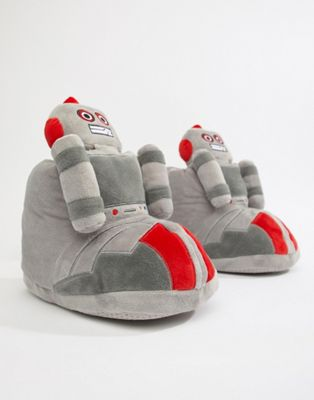 Image 1 of ASOS DESIGN robot slipper boots in grey
