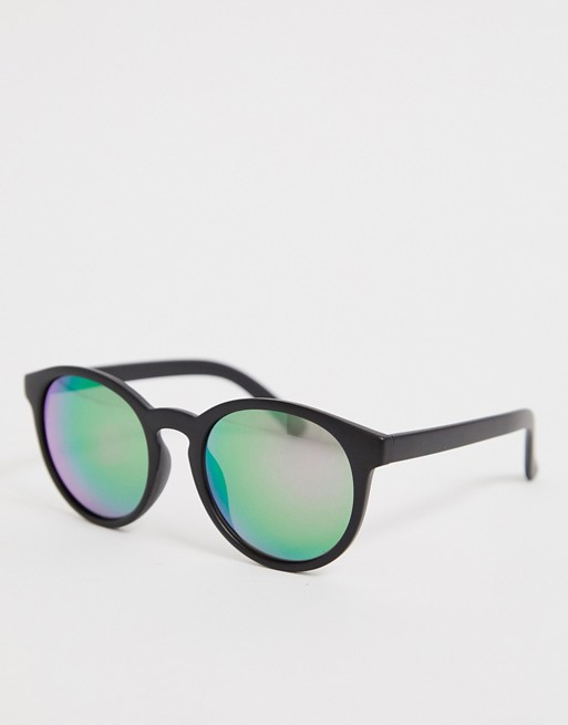 ASOS DESIGN – Runda solglasögon med tunna bågar