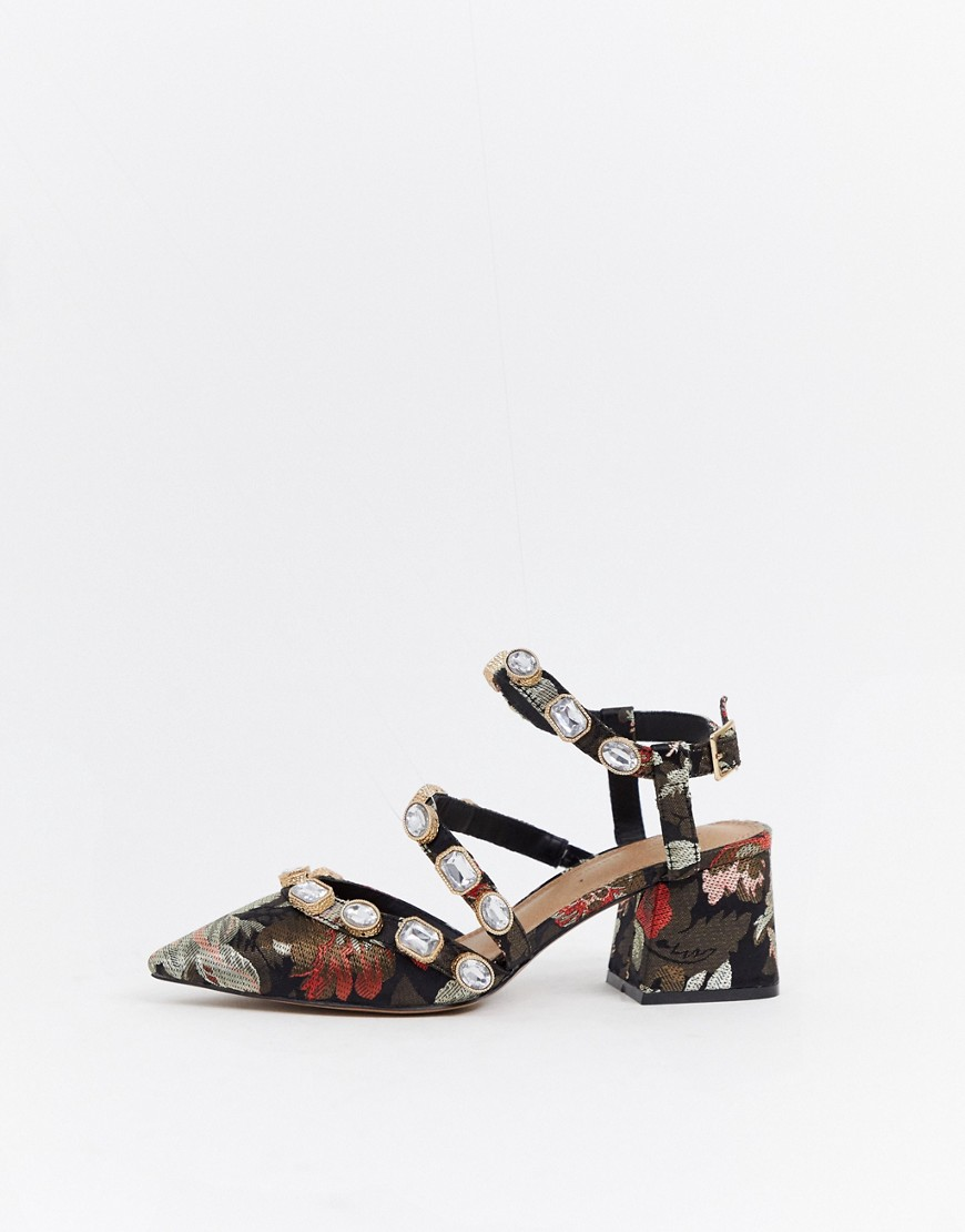 Asos Design Saffron Embellished Mid Heels by Asos Design