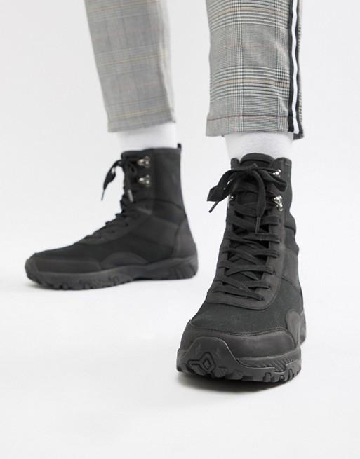 Bild 1 von ASOS DESIGN – Schwarze Sneaker mit hohem Schaft