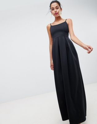ASOS DESIGN scuba scoop neck maxi prom dress
