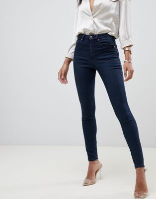 ASOS DESIGN 'Sculpt me' high waist premium jeans in vivienne dark wash